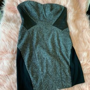 Strapless Black Mini Dress, SIZE 10